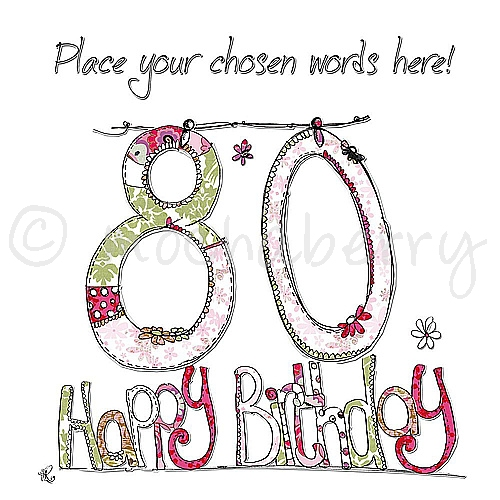 Personalised 80th Birthday Cards