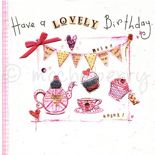 Tea Party Birthday Card